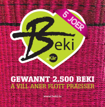 Beki regional currency Gewënnspill Tombola